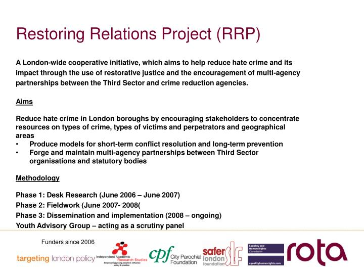 Restoring Relations Project (RRP)