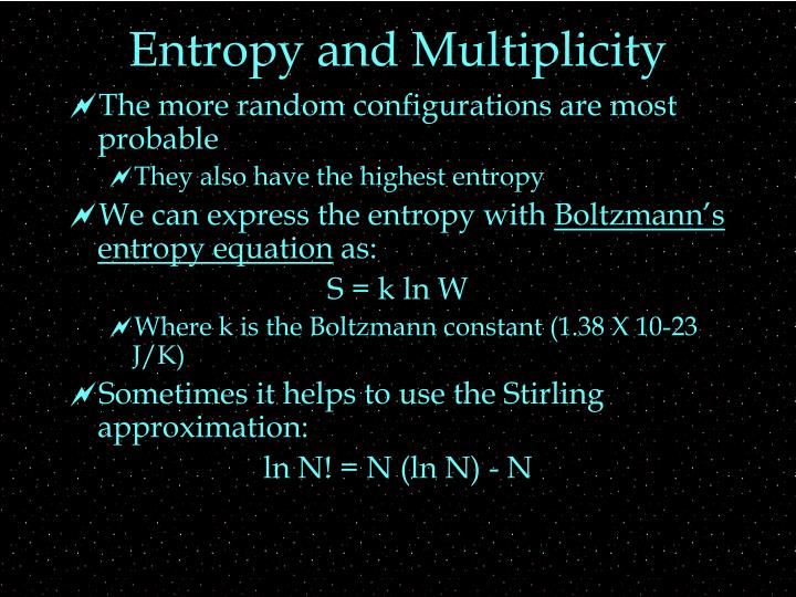 Entropy and Multiplicity