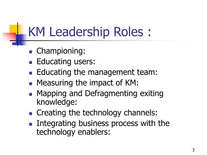 Km leadership roles