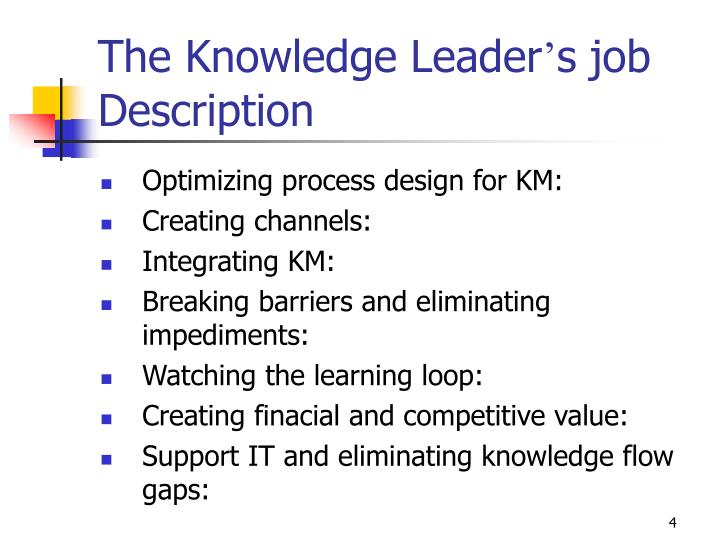The Knowledge Leader