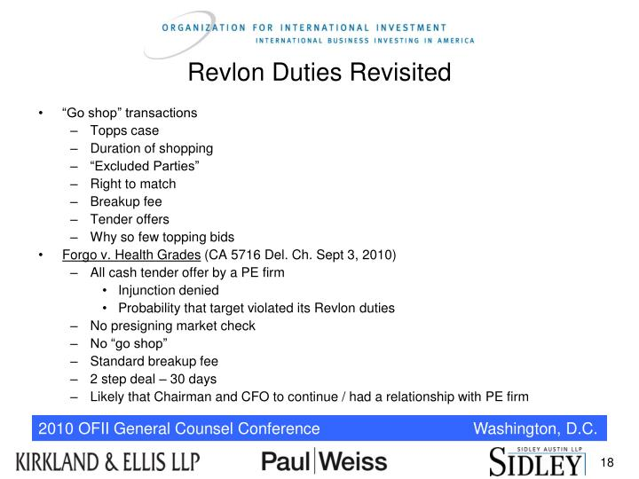 Revlon Duties Revisited
