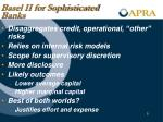 basel ii for sophisticated banks