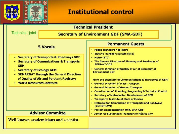 Institutional control