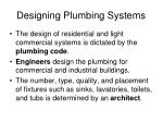 designing plumbing systems