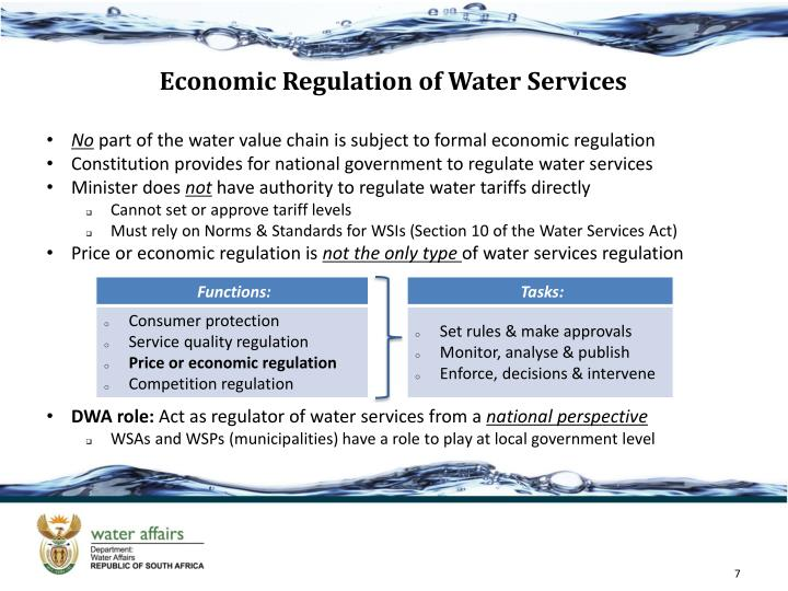 Economic Regulation of Water Services