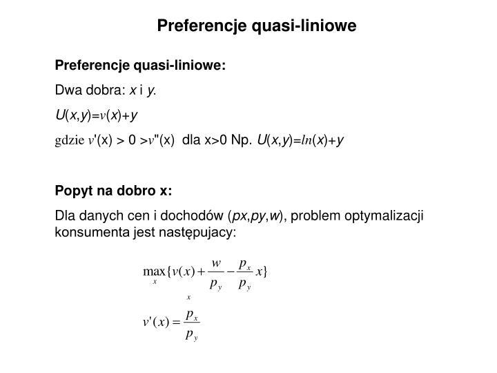 Preferencje quasi-liniowe