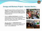 energy and biomass project success stories1
