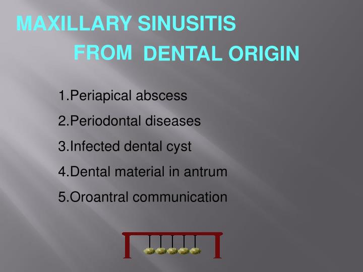MAXILLARY SINUSITIS