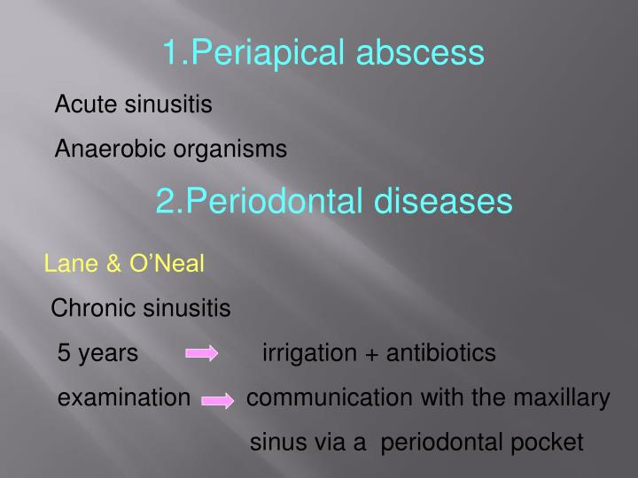 1.Periapical abscess