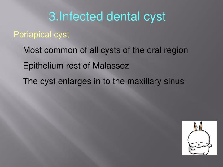 3.Infected dental cyst