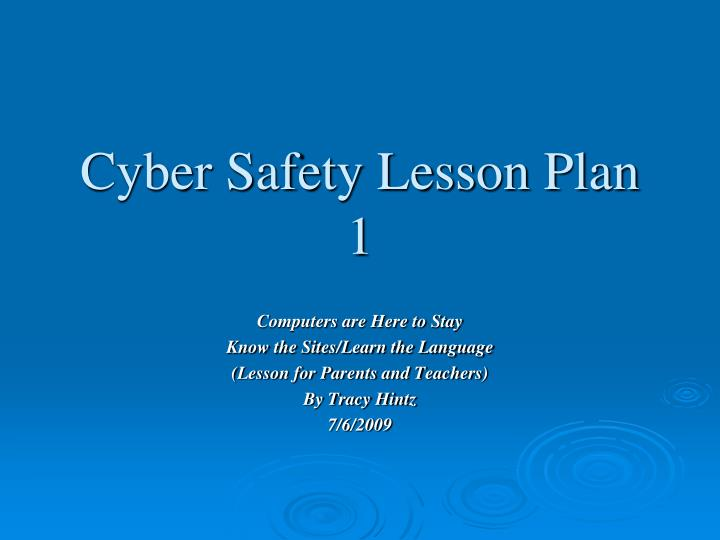 cyber safety lesson plan 1 n.