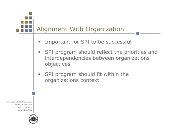 Alignment With Organization