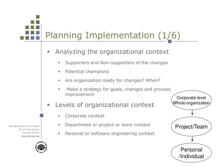 Planning Implementation (1/6)