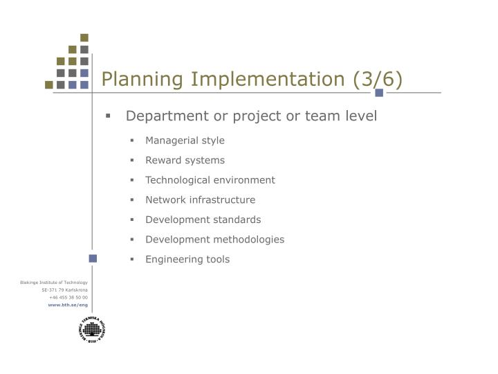 Planning Implementation (3/6)