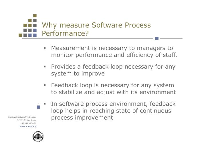 Why measure Software Process Performance?