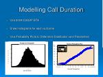 modelling call duration