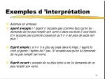 exemples d interpr tation