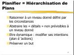 planifier hi rarchisation de plans