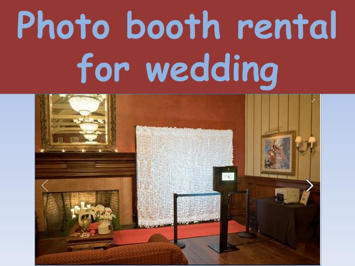 photo booth rental for wedding n.