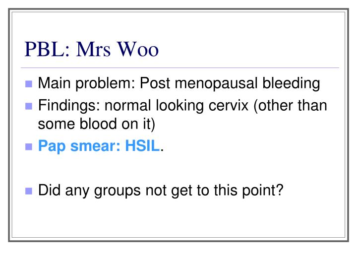 PBL: Mrs Woo