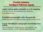 possible solution intelligent software agents