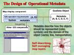 the design of operational metadata