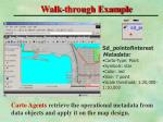 walk through example