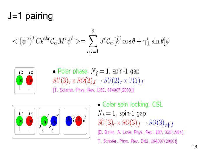 J=1 pairing