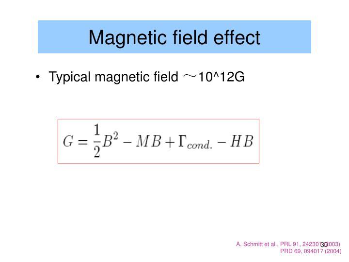 Magnetic field effect