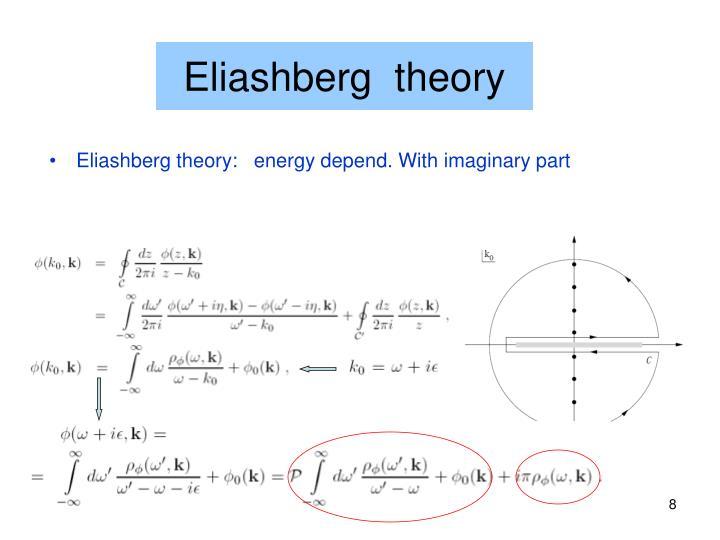 Eliashberg  theory