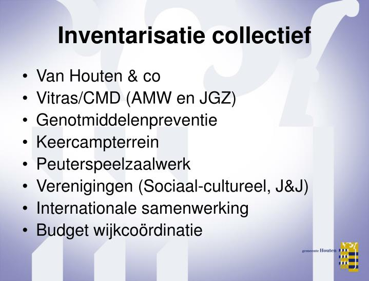 Inventarisatie collectief