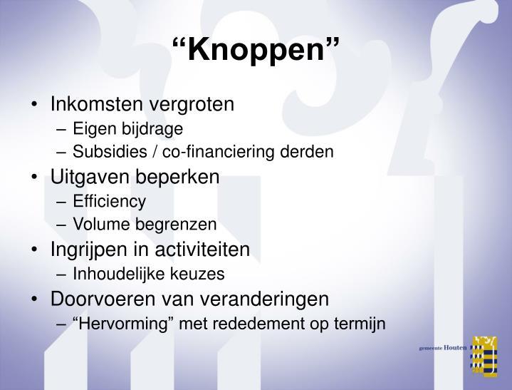 """Knoppen"""