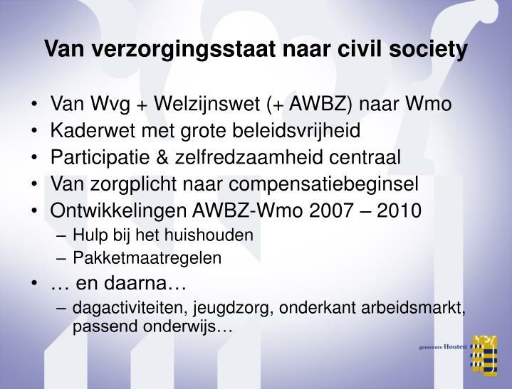 Van verzorgingsstaat naar civil society