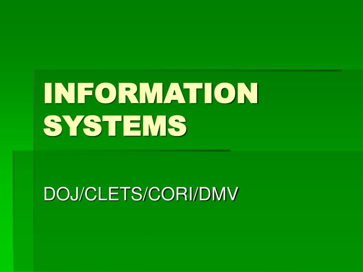 information systems n.
