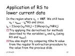 application of rs to lower current data