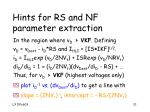 hints for rs and nf parameter extraction