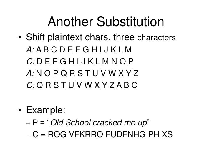 Another substitution