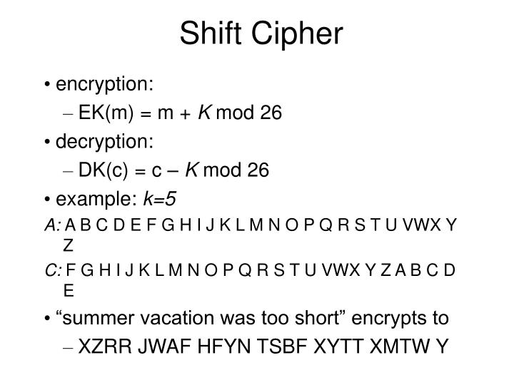 Shift Cipher