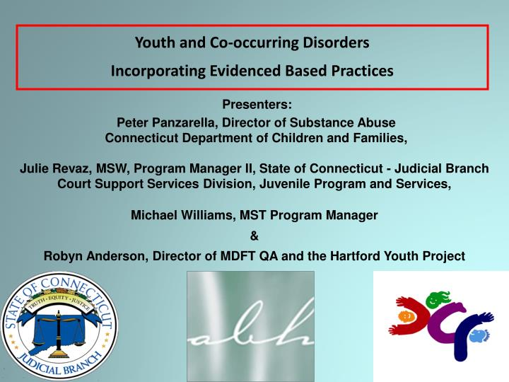 youth and co occurring disorders incorporating evidenced based practices n.