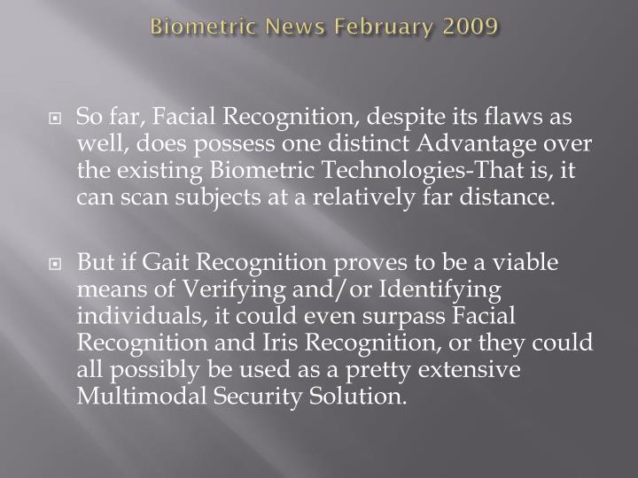 Biometric news february 2009