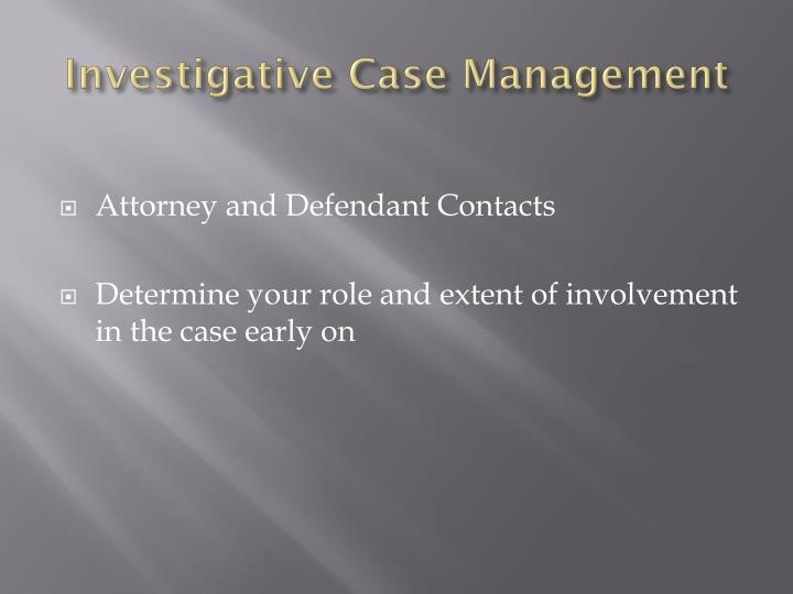 Investigative Case Management