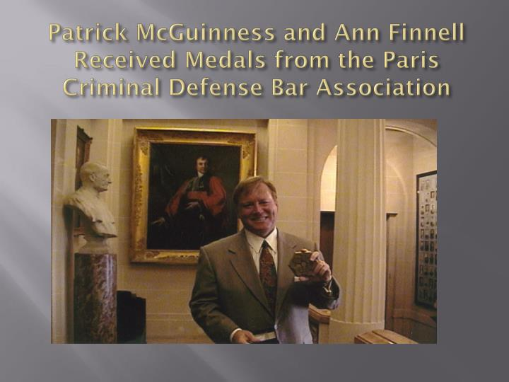 Patrick McGuinness and Ann Finnell