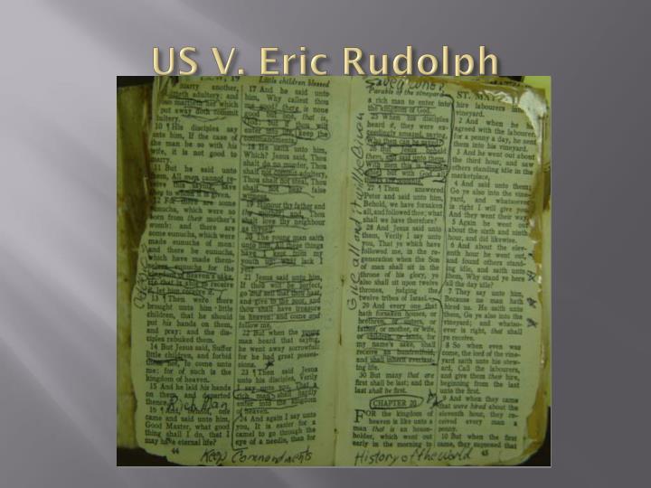 US V. Eric Rudolph