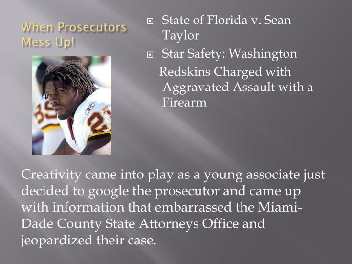 When Prosecutors Mess Up!