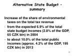 alternative state budget su mm ary1