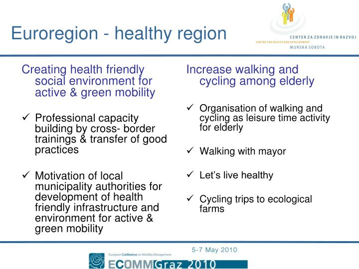Creating health friendly social environment for active & green mobility