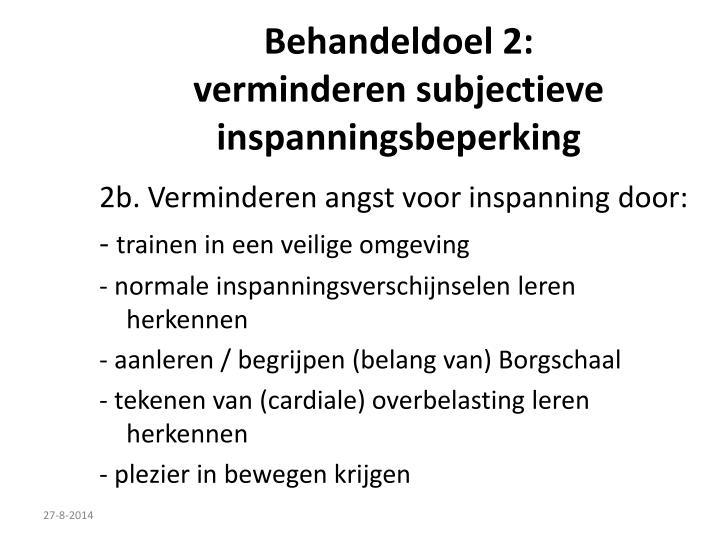 Behandeldoel 2: