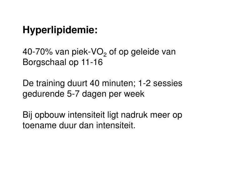 Hyperlipidemie: