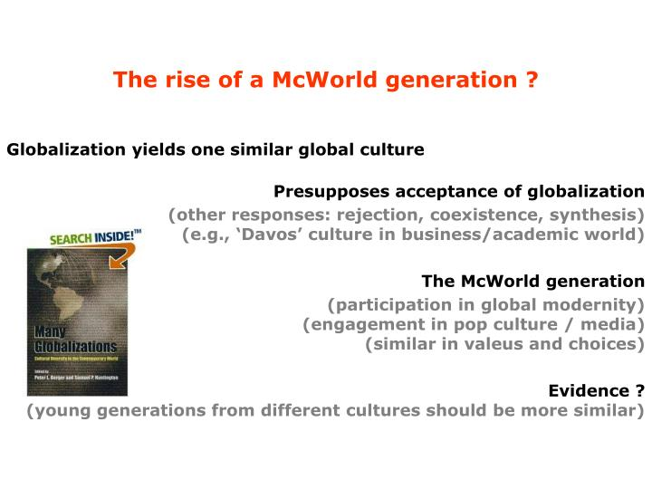 The rise of a McWorld generation ?