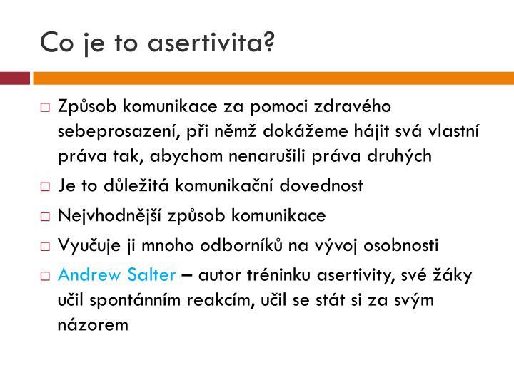 Co je to asertivita